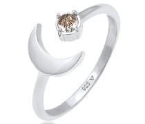 Ring Halbmond Turmalin Offen Astro Design 925 Silber
