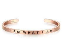 Armband I AM WHAT I AM Edelstahl roségold