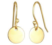 Ohrringe Hänger Plättchen Geo Minimal Look 925 Silber
