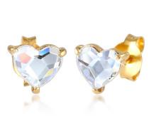Ohrringe Herz Stecker Swarovski® Kristalle 925 Silber