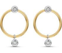 -Ohrstecker 375er Gelbgold, 375er Weißgold 4 Diamant One Size 87728927