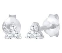Ohrringe Stecker Dreieck Trinity Zirkonia 925 Silber