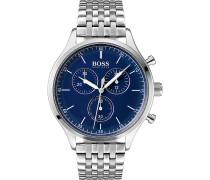 Boss-Uhren Analog Quarz One Size Edelstahl 87606074