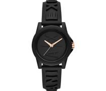-Uhren Analog Quarz Schwarz Silikon 32010694