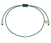 Armband Textil grün Sterling Silber gelbvergoldet
