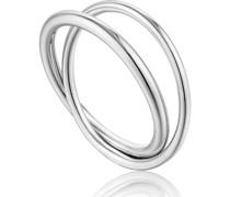 -Damenring Modern Double Wrap Ring 925er Silber 54 32014207