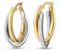 Gold-Creolen 333er Gelbgold, Weißgold One Size 84151831