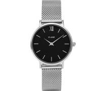 -Uhren Analog Quarz Silber/Schwarz Silber/Schwarz 32011682