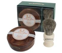 Sandalwood Shave Soap Set Mahogany Rasur