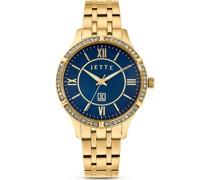 -Uhren Analog Quarz Gold 32013688