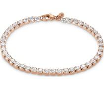 -Armband Edelstahl 41 Zirkonia Silber 32013453