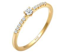 Ring Geo Microsetting Diamant (0.11 ct.) 585 Gelbgold