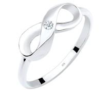 Ring Infinity Unendlich Diamant 0.03 ct. 925 Silber