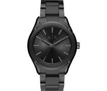 -Uhren Analog Quarz Schwarz Edelstahl 32010699