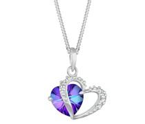 Halskette Herz Symbol Swarovski® Kristalle 925 Silber