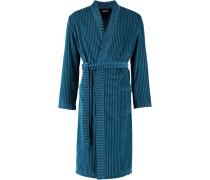 Bademantel Kimono Streifen 6518 petrol - 14
