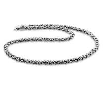 Halskette Massive Männer Königskette Oxidiert 925 Silber