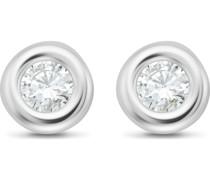 -Ohrstecker 375er Weißgold 2 Diamant One Size 87849651