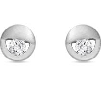 -Ohrstecker 925er Silber rhodiniert 2 Zirkon One Size 87685446