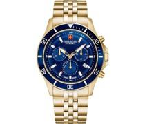 -Uhren Analog Quarz Gold/Blau 32011589