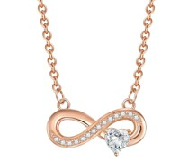 Halskette Infinity/Herz Sterling Silber Zirkonia silber