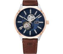 -Uhren Analog Automatik Braun Braun Leder 32011948