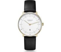 -Uhren Analog Quarz Gold Leder 32013679