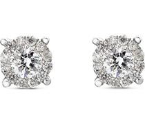 -Ohrstecker 375er Weißgold 26 Diamant One Size 87501957