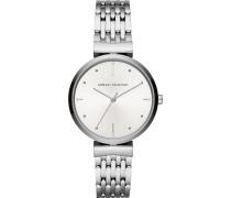 -Uhren Analog Quarz Silber Edelstahl 32012590