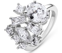Silver-Damenring 925er Silber 9 Zirkonia 59 32013601