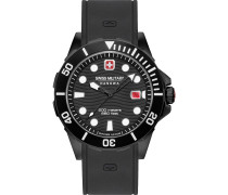 -Uhren Analog Quarz Schwarz/Gold 32012815