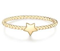 Ring Stern Sterling Silber gelbgold Ringe
