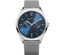 Unisex-Uhren Analog Quarz Blau 32017001