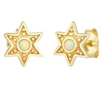 Ohrringe Stern Astro Opal Vintage Style 925 Silber