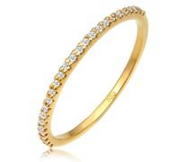 Ring Geo Microsetting Diamant (0.125 ct.) 585 Gelbgold
