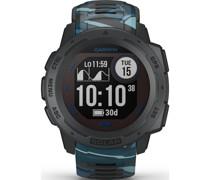 Unisex-Smartwatch Digital Akku Blau 32014032