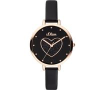 -Uhren Analog Quarz Rosa Rosa Kunstleder 32011628