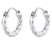 Ohrringe Creolen Strukturiert Basic 925 Sterling Silber
