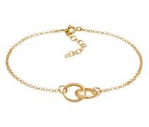 Armband Erbskette Kreise Ringe Verbunden Basic 925 Silber