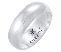 Ring Bandring Basic Breit Glatt Rund 925 Silber
