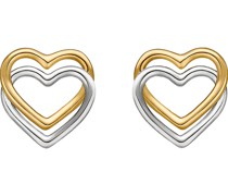 -Ohrstecker 375er Gelbgold, Weißgold One Size 87377652