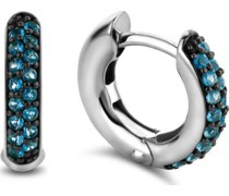 -Creolen 925er Silber Blau Blau 32013841