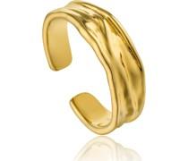 -Damenring Crush Adjustable Ring 925er Silber Gold 32014157