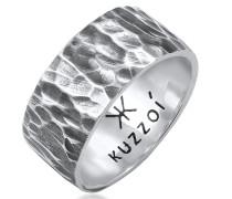 Ring Bandring Gehämmert 925 Sterling Silber