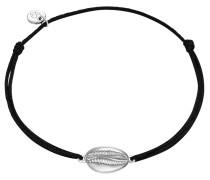 Armband Textil schwarz Sterling Silber
