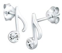 Ohrringe Note Musik Melodie Kristalle Silber