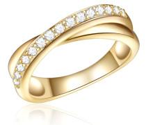 Ring Sterling Silber Zirkonia gelbgold