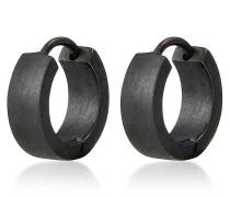 Ohrringe Männer Creole Kreis Matt 925 Sterling Silber