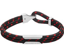 -Herrenarmband Nylon/Edelstahl One Size 32012391