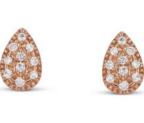 -Ohrstecker 375er Roségold 20 Diamant One Size 87622851